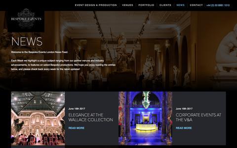Bespoke Events London :: News