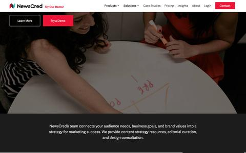 Screenshot of Services Page newscred.com - Content Marketing Strategy & Services   NewsCred - captured Oct. 12, 2016