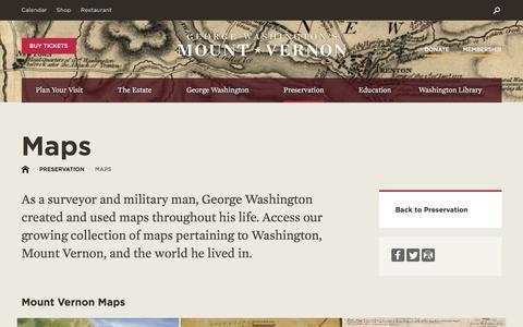 Screenshot of Maps & Directions Page mountvernon.org - Maps·George Washington's Mount Vernon - captured June 9, 2018
