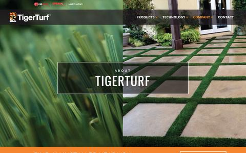 Screenshot of About Page tigerturf.com - About TigerTurf - TigerTurf - captured March 18, 2019