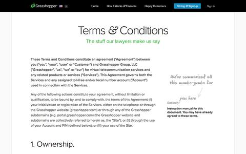 Terms and Conditions - Grasshopper