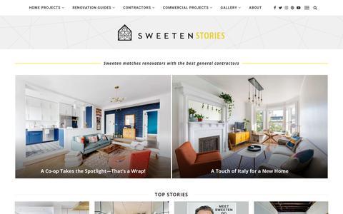 Screenshot of Blog sweeten.com - Sweeten Blog | Renovation stories, tips, and inspiration - captured Jan. 19, 2019