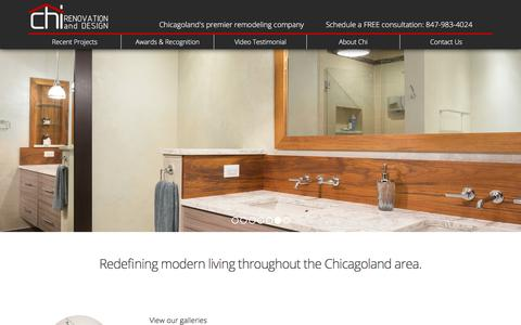Screenshot of Home Page chirenovation.com - Chicago's Premier Remodeling Company- Chi Renovations - captured July 28, 2017