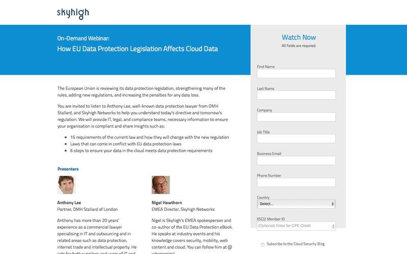 Skyhigh Networks Webinar