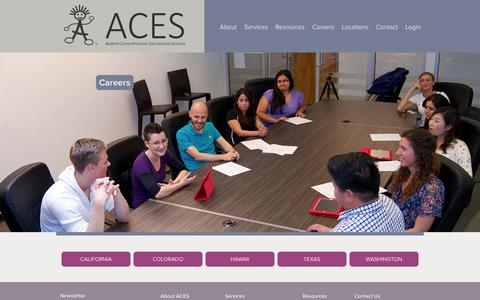 Screenshot of Jobs Page acesaba.com - Careers | ACES - captured Oct. 4, 2014