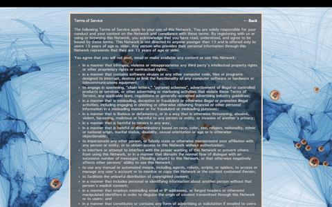 Screenshot of Terms Page ning.com - Terms of Service - IDRN Community - captured Sept. 13, 2014