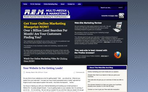 Screenshot of Home Page remmultimedia.com - REM Multi-Media & Marketing - captured Oct. 6, 2014