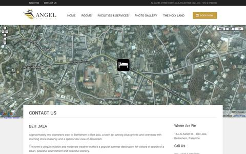 Screenshot of Contact Page angelhotel.ps - Contact Us | Angel Hotel - captured Sept. 30, 2014