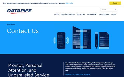 Screenshot of Contact Page datapipe.com - Contact Us | Datapipe - captured May 2, 2017