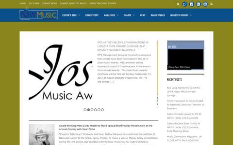 Screenshot of Press Page newmusicweekly.com - News - New Music Weekly - captured June 24, 2017