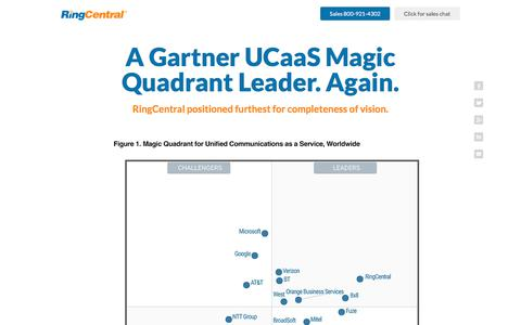 Gartner Magic Quadrant Names RingCentral Leader in UCaaS for 2017