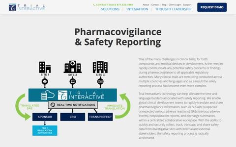 Pharmacovigilance & Safety Reporting | Trial Interactive