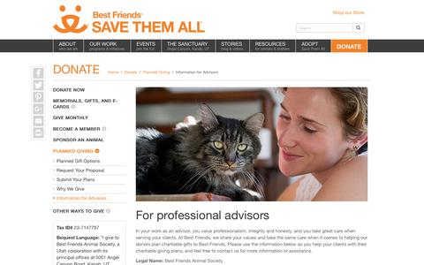 Planned Gifts Advisors | Best Friends Animal Society
