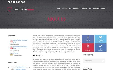 Screenshot of About Page traction-tribe.com - Traction Tribe  About us - Traction Tribe - captured Sept. 19, 2014
