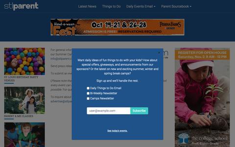 Screenshot of Contact Page stlparent.com - Contact Us | St. Louis Parent - captured Oct. 1, 2018