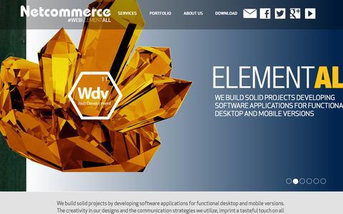 Screenshot of Home Page netcommerce.mx - WEB ELEMENTALL - captured Jan. 26, 2015