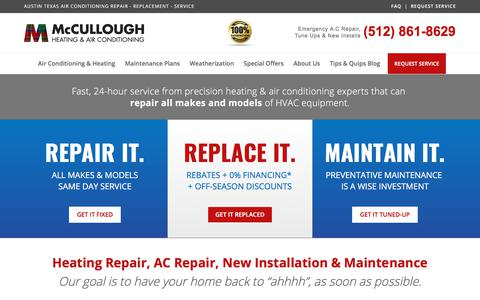 Screenshot of Home Page coolmenow.com - AC Repair Austin | Air conditioning repair Austin | AC Servicing - captured Oct. 17, 2017