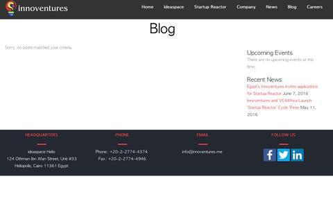 Screenshot of Blog innoventures.me - Blog - Innoventures - captured Aug. 6, 2016