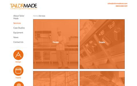 Screenshot of Services Page tailormadeces.com - Services - Commercial Kitchen & Bar Design, Supply & Installation - captured Dec. 3, 2016