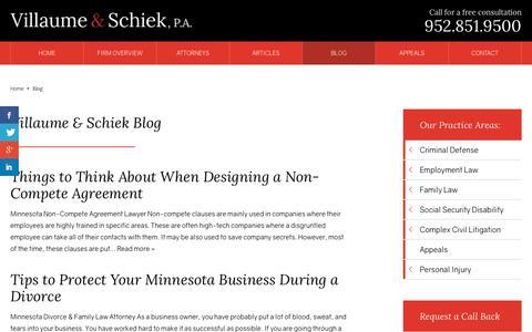 Screenshot of Blog defendmn.com - Villaume & Schiek Blog | Villaume & Schiek, P.A. Bloomington, MN - captured Oct. 20, 2018