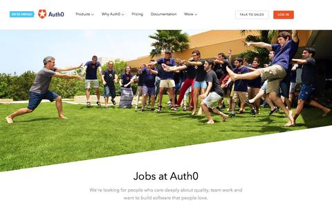Screenshot of Jobs Page auth0.com - Jobs - Auth0 - captured July 16, 2016