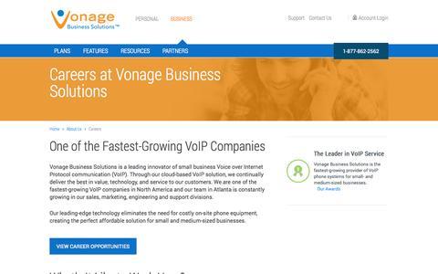 Screenshot of Jobs Page vonagebusiness.com - Careers at Vonage Business Solutions (Vocalocity) - captured Sept. 16, 2014