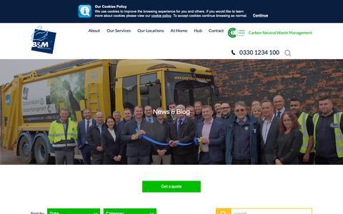Screenshot of Press Page bagnallandmorris.com - Bagnall & Morris News | Waste Management Industry News - captured Sept. 26, 2018