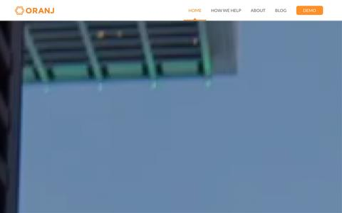Screenshot of Home Page runoranj.com - Oranj | A Wealth Management Application and Integrated Business Development Solution - captured Dec. 12, 2015