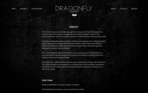 Screenshot of About Page thedragonflyagency.com - About | The Dragonfly Agency - captured June 16, 2017