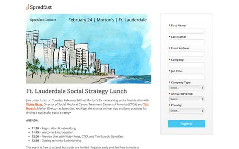 Screenshot of Landing Page spredfast.com captured Oct. 20, 2016