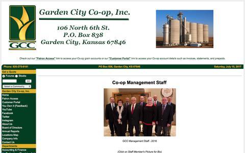 Screenshot of Team Page gccoop.com - Garden City Co-op, Inc. - Staff - captured July 15, 2017