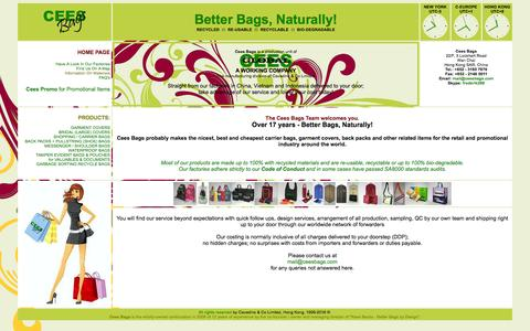 Screenshot of Home Page ceesbags.com - CEES BAGS - Home Page - captured March 3, 2016