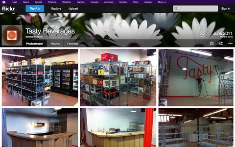 Screenshot of Flickr Page flickr.com - Flickr: tastybeverageco's Photostream - captured Oct. 25, 2014