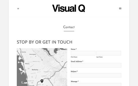 Screenshot of Contact Page visual-q.net - Contact — Visual Q - captured Oct. 29, 2014