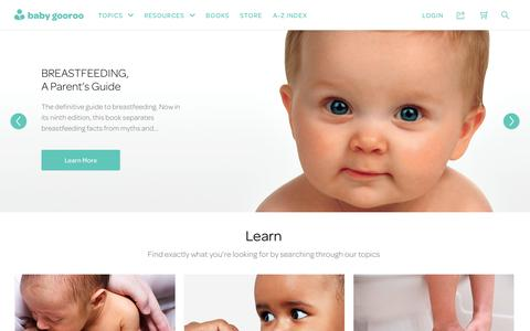 Screenshot of Home Page babygooroo.com - Home | baby gooroo - captured Jan. 12, 2017
