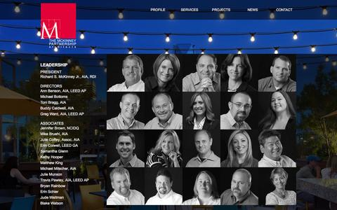 Screenshot of Team Page tmparch.com - Leadership - captured Feb. 15, 2016