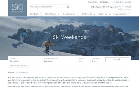 Ski Weekends | Ski Solutions