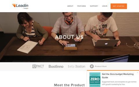 Screenshot of About Page hubspot.com - About Leadin & The Team | Leadin by HubSpot - captured March 30, 2016