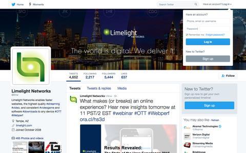 Limelight Networks (@llnw) | Twitter