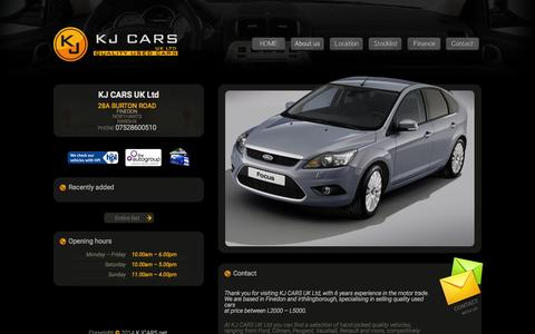 Screenshot of Home Page kjcars.net - KJCars.net :: - captured Jan. 25, 2015