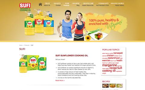 Screenshot of Products Page sufioilandghee.com - Sufi | Sufi Oil and Ghee - captured Oct. 2, 2014