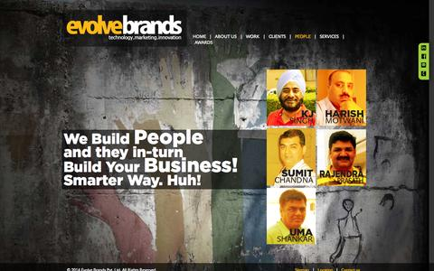 Screenshot of Team Page evolvebrands.com - Loyalty Management Experts | EvolveBrands Family - captured Oct. 3, 2014