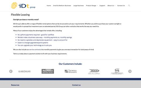 Screenshot of Pricing Page idtgroup.com - Payment Solutions | Rent Attendance Tracker | Hire Time Clocks - captured Oct. 6, 2014