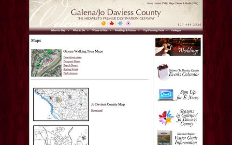Screenshot of Maps & Directions Page galena.org - Maps - captured Sept. 19, 2014