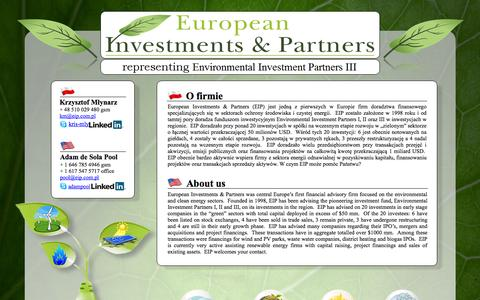 Screenshot of Home Page eip.com.pl - ...:: Welcome to EIP website ::... - captured Oct. 2, 2014