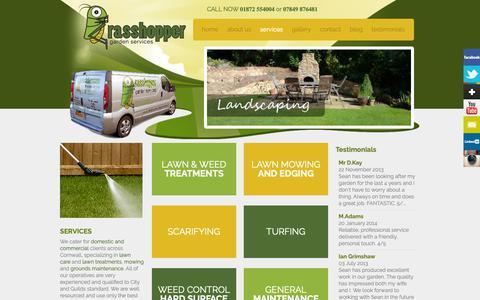 Screenshot of Services Page grasshoppergardenservices.co.uk - Garden Services | Truro Perranporth Newquay - Grasshopper Garden Services - captured Nov. 11, 2018