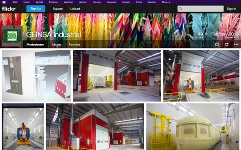 Screenshot of Flickr Page flickr.com - Flickr: GEINSA Industrial's Photostream - captured Oct. 22, 2014
