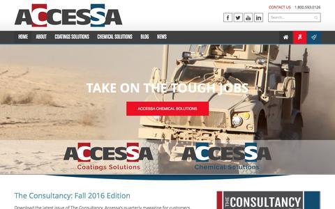 Screenshot of Home Page accessa.com - Accessa - - captured Nov. 19, 2016