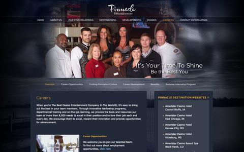 Screenshot of Jobs Page pnkinc.com - Careers » Pinnacle Entertainment, Inc. - captured Sept. 19, 2014