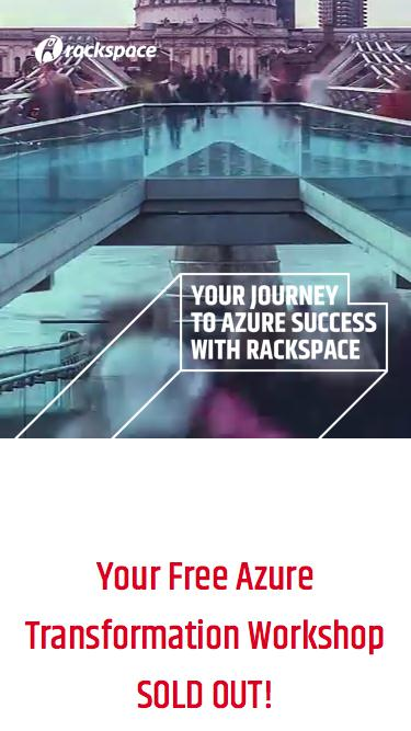 Screenshot of Landing Page  rackspace.com - Free Microsoft Azure Workshop